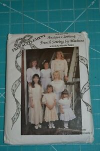 French sewing by machine pattern Martha Pullen girls dress amp; misses blouse $15.00
