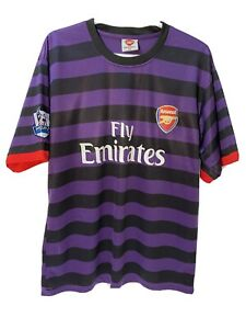 Arsenal Fly Emirates Barclays Premier League Allure #3 Jersey