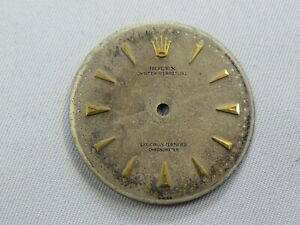 ROLEX ORIGINAL BUBBLEBACK DIAL SILVER WITH GOLD ARROW MARKERS $600.00