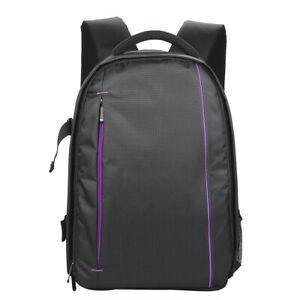 Photography Camera Bags Backpack Purple Outdoor Multi functional Breathable E3H7
