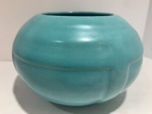 VINTAGE POTTERY VASE BLUE GREEN AQUA ARTS AND CRAFTS ANTIQUE Vase Ball SEE ALL❤️ $20.00