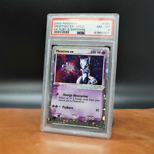 Pokemon EX Ruby and Sapphire Mewtwo EX 101 109 PSA 8
