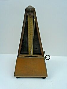 Antique Wooden Mechanical Metronome for Piano Guitar Drums Bass Track Tempo $49.99
