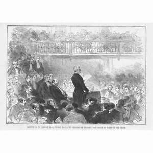 Meeting at St James#x27;s Hall to Welcome Henry Morton Stanley Antique Print 1890 GBP 9.95