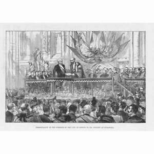 LONDON Freedom of the City to Henry Morton Stanley Antique Print 1890 GBP 9.95