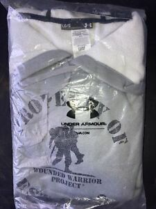 NWT New WOUNDED WARRIOR Under Armour HOODIE Mens Large L $30.00