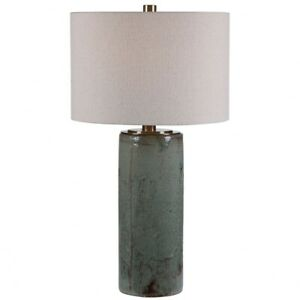 Callais 1 Light Table Lamp 18 inches wide by 18 inches deep Crackled Aqua $393.80