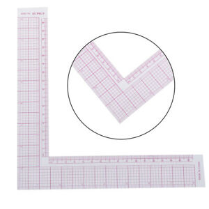 Tailor Drawing Craft Tool L shape Ruler Sewing Square Curve Ruler Plastic C $4.58