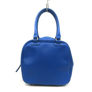Adelina Di Rossellini Bag Hand Mini Square Leather Blue Made In Italy 4N158 $100.00