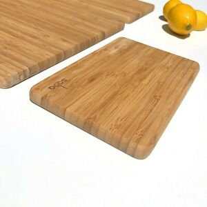Saba Bamboo Cutting Board Set of 3 for Meat Cheese and Veggies. Serving Tray