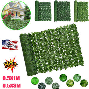 Fake Ivy Artificial Leaves Fence Hedge Screen Vine Garland Faux Silk Yard Decor