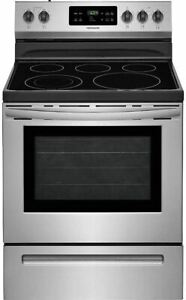 Frigidaire FFEF3054TS 30 Inch Electric Freestanding Range with 5 Elements Smoot