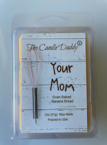 Your Mom Oven Baked Banana Bread Scented Melt Maximum Scent Wax Cubes Melts