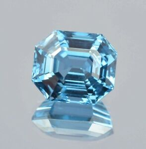 Natural Flawless Brazilian Swiss Blue Topaz Loose Radiant Cut Gemstone 12.90 Ct $48.99