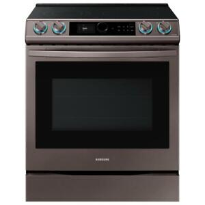 Samsung 6.3 cu. ft. Front Control Slide in Electric Convection Range with