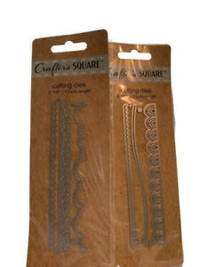 Crafter#x27;s Square Cutting Dies 2 Packs 3 Pieces Each Crafting Gift New $9.99