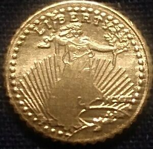 1907 ST.GAUDINS MINI GOLD COINS $3.59
