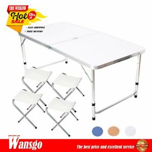 NEW Portable Indoor Outdoor Aluminum Folding Table 4FT Picnic BBQ Party Camping