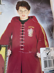 Harry Potter Quidditch Red Hooded Robe Halloween Costume Child Small 4 6 $18.99