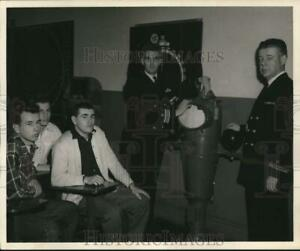 1953 Press Photo Prospective Albany Coast Guard recruits briefed by officers. $16.88