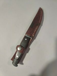 Vintage Youth Hunting Knife Made In USA with leather sheath 4quot; blade