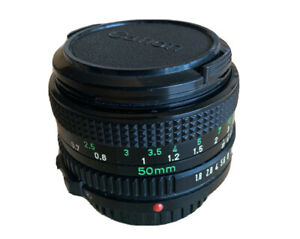 Canon Lens FD 50mm 1:1.8 with both caps 1980s