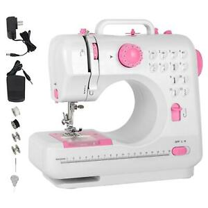 Mini Electric Household Crafting Mending Sewing Machines 12 Stitches 2 Speed $39.59