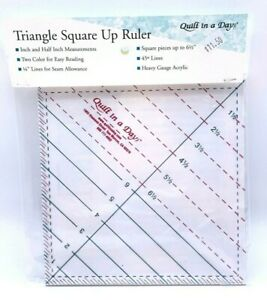 Triangle Square Up Ruler 6 1 2quot; Quilting Ruler Quilt In A Day Opened Package $12.00