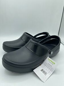 Crocs Size 11 MERCY WORK Black Clogs Loafers New Womens Shoes