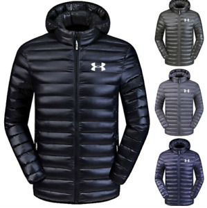 Mens New Under Armour Down Jacket Winter Thick Coat Hooded Warm Puffer Overcoat $9.93