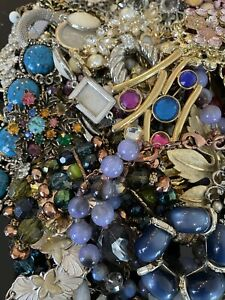 Jewelry Vintage Modern Huge Lot Craft Junk Wearable Over One Full Pound