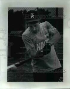 1991 Press Photo Centerfield Mike Pike of Gilmore Academy cvb41122