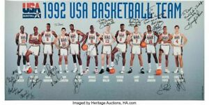 1992 DREAM TEAM BASKETBALL OLYMPIC Poster 21 x 36 inch 2 POSTER 24x36