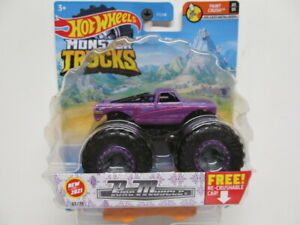 HOT WHEELS 2021 MONSTER TRUCK Purple PURE MUSCLE w ReCrushable Car $7.99