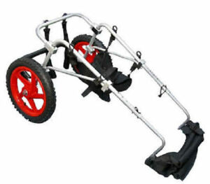 USED BEST FRIEND MOBILITY DOG WHEELCHAIR LARGE ALUMINUM LIGHTWEIGHT CART