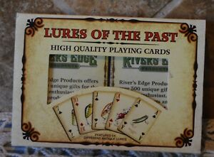 FISHING LURES OF THE PAST TWO DECK PLAYING CARDS SET FEATURES 54 ANTIQUE LURES
