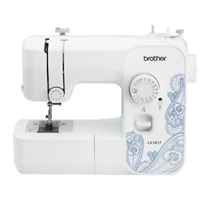 Brother LX3817 17 Stitch Portable Full Size Sewing Machine White $112.95