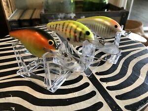 vintage bagley lures DB 3 lot 3 in excellent condition great colors