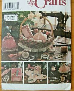 Pattern Simplicity 7105 Sewing Accessories Tape Measure Doll Sewing Case Pincush $5.99
