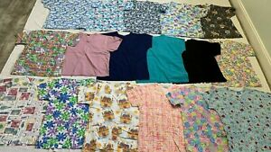 Women#x27;s Medical Scrubs Lot 17 Assorted Colored Scrubs Size XS; Dickies MORE