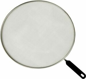 Frying Pan Cover Splatter Screen Oil Guard 11.5 With Black Handle FREE SHIPPING