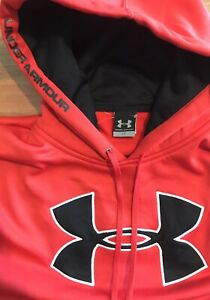 Under Armour Hoodie Large Red amp; Black Under Armour Pullover Hoodie Polyester $35.00
