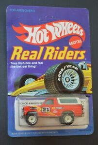 VINTAGE HOT WHEELS REAL RIDERS SERIES Bronco 4 Wheeler 4355 Carded Unpunched 82