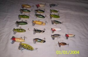 21 Vintage Fred Arbogast Jitterbug Fishing Lures ALL Metal Lips ALL Marked