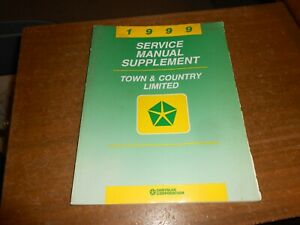 1999 Dodge Chrysler Town Country Limited Service Manual Supplement $8.20