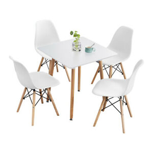 5 Piece Dining Table Set Wooden Table w 4 Chairs DSW Dining Set for Kitchen Bar
