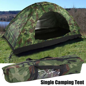 Single Camping Tent Kit for Outdoor Hiking 4 Season Waterproof Auto Folding Tent