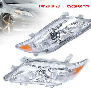 Headlights For 2010 2011 Toyota Camry 2.4L 2.5L Left amp; Right Projector Headlamps $136.00