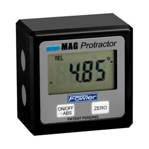 Fowler Mini Mag Angle Gauge Digital Protractor Magnetic Electronic Level $94.98