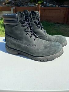 Timberland Premium 6 In Waterproof Lace Up Mens Boots Blue Black Men Size 9